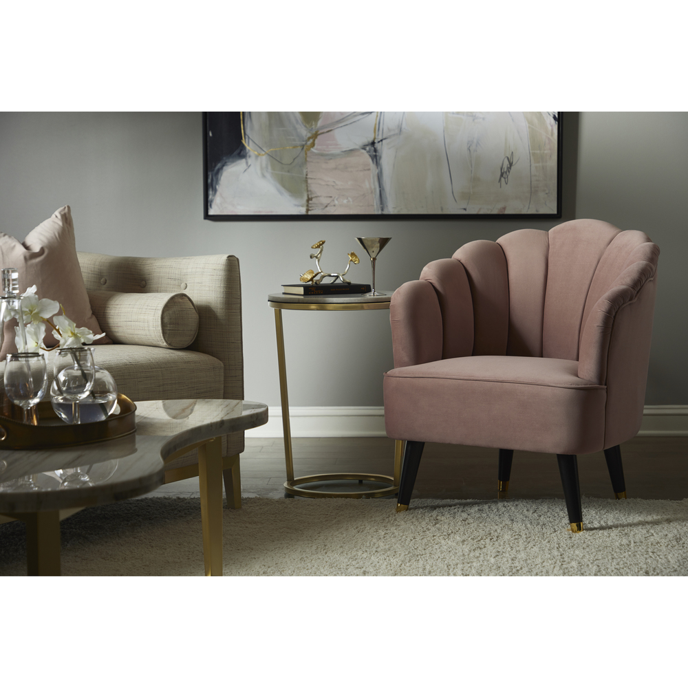 Accentrics Home - Channeled Accent Chair