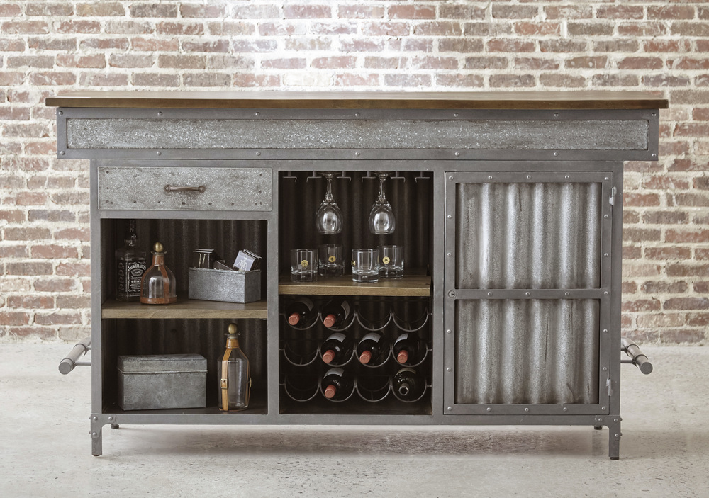 Accentrics Home - Wood and Metal Bar