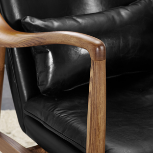 Thumbnail of Accentrics Home - Wood Frame Leather Sling Chair