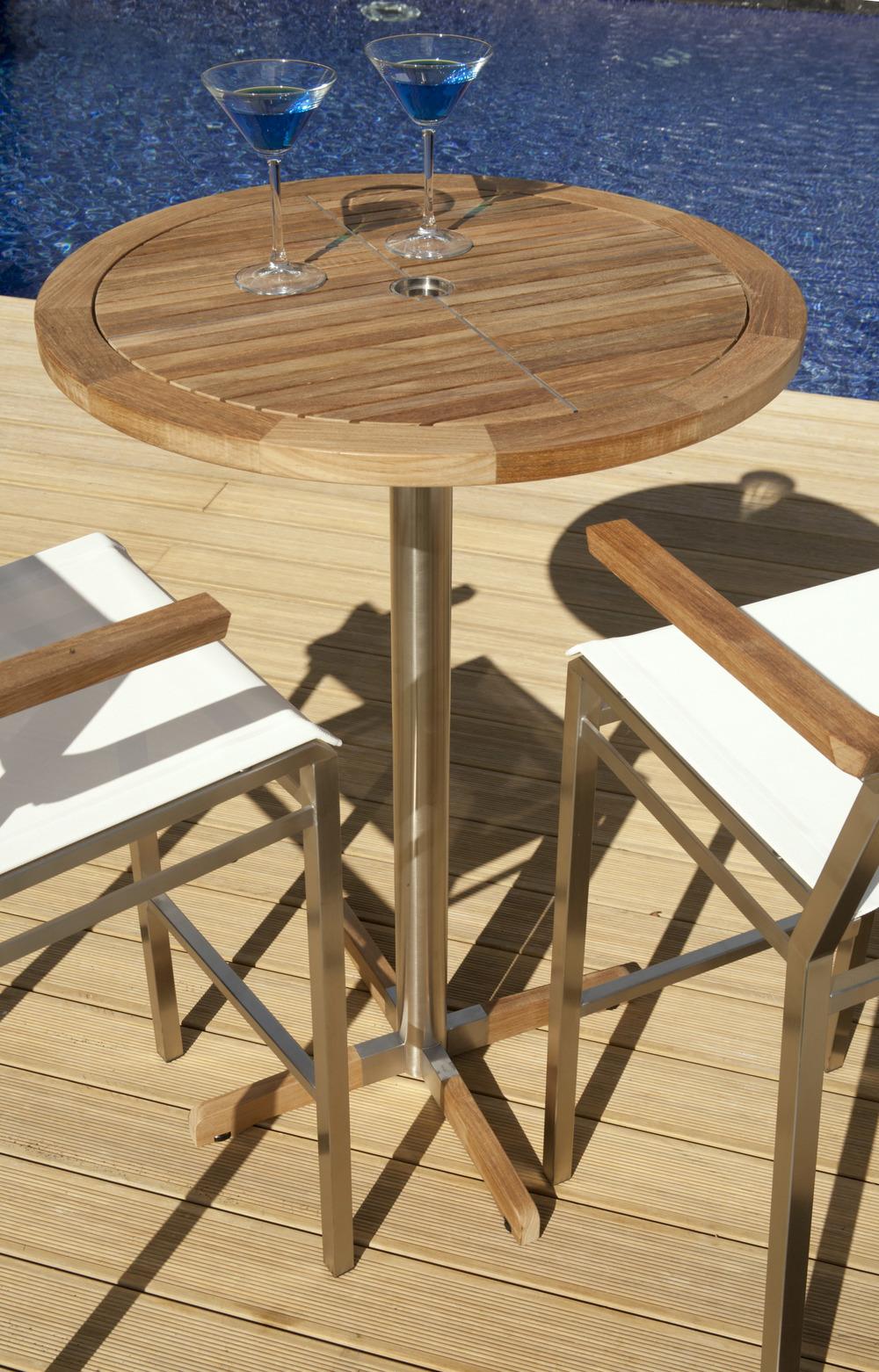 Barlow Tyrie - Equinox Circular Pedestal High Dining Table
