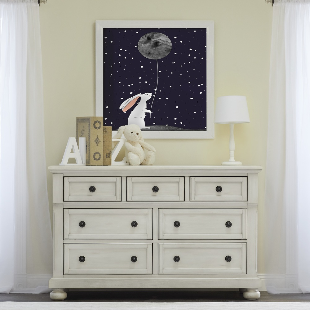 Heritage Baby Products - 6 Drawer Chest Antique White