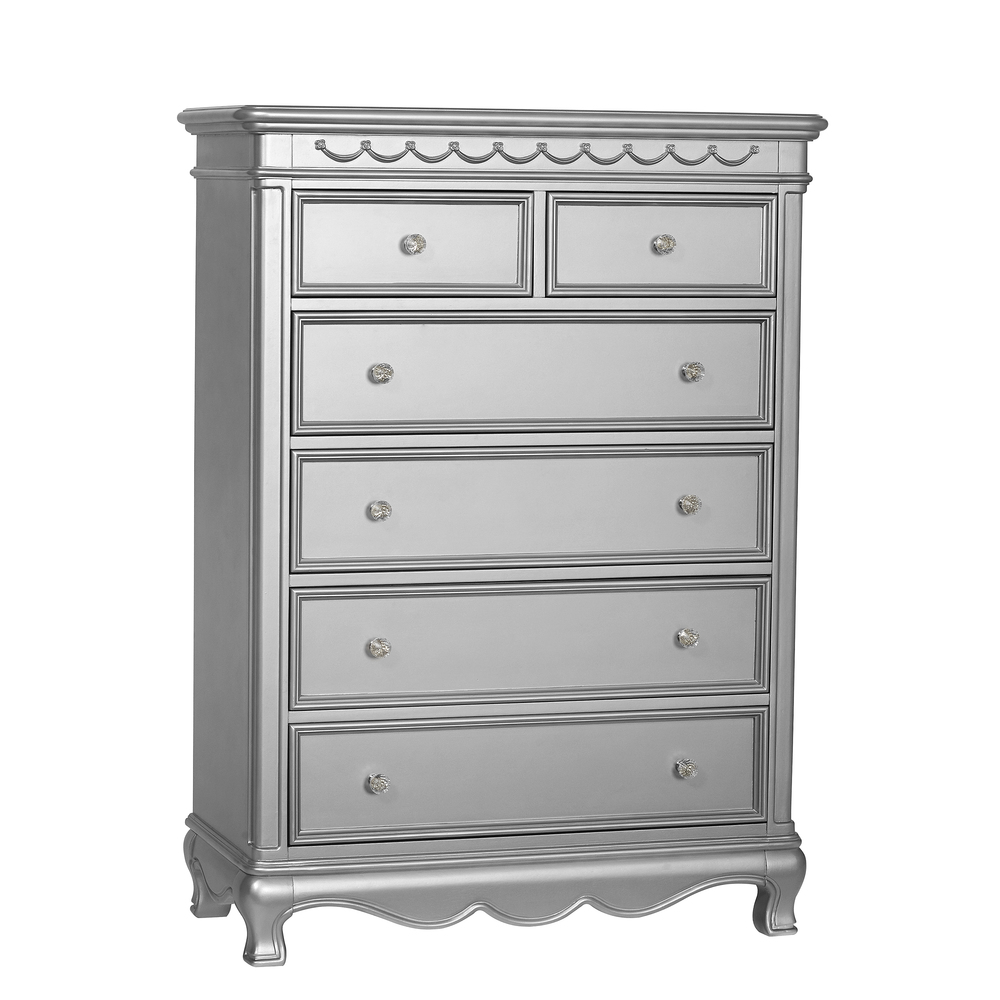 Heritage Baby Products - 6 Drawer Chest Metallic