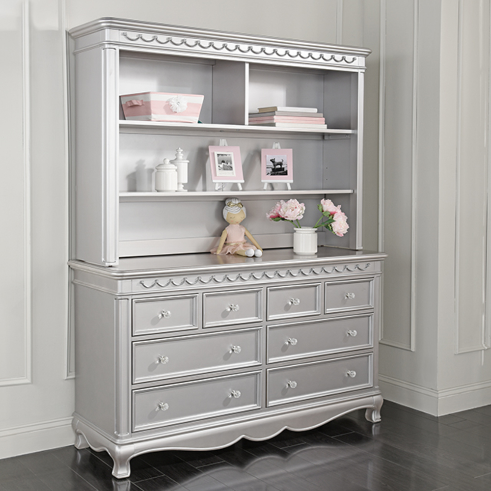 Heritage Baby Products - 8 Drawer Dresser Metallic