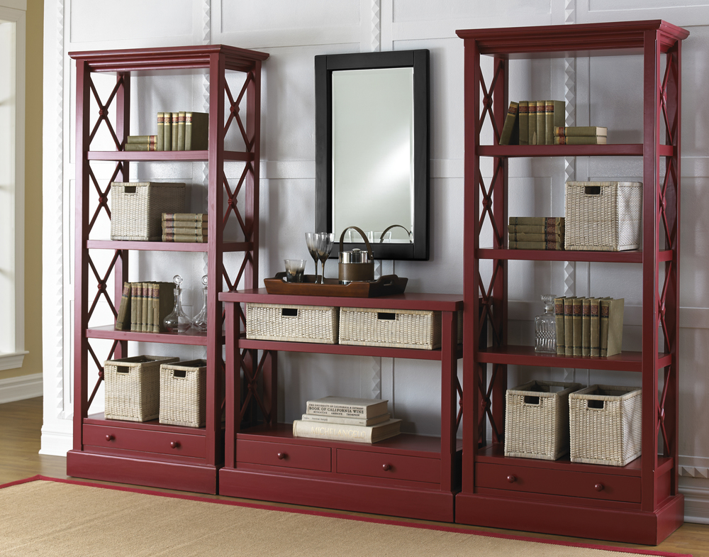 Trade Winds Furniture - Cross Bar Bookshelves and Console