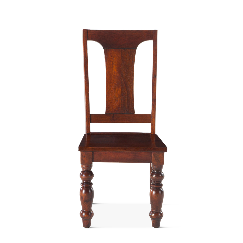 """Home Trends & Design - Colonial Plantation Dining Chair 18"""" Light"""
