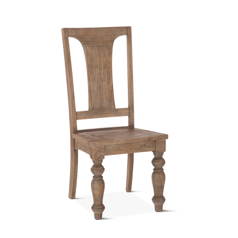 """Home Trends & Design - Colonial Plantation Dining Chair 18"""" Weathered Teak"""