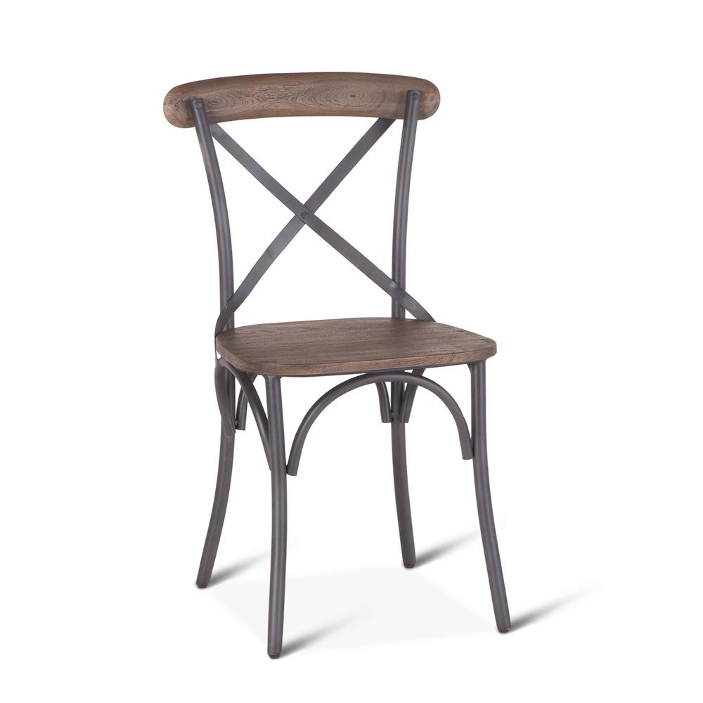 "Home Trends & Design - Hobbs Dining Chair 18"" Weathered Gray"