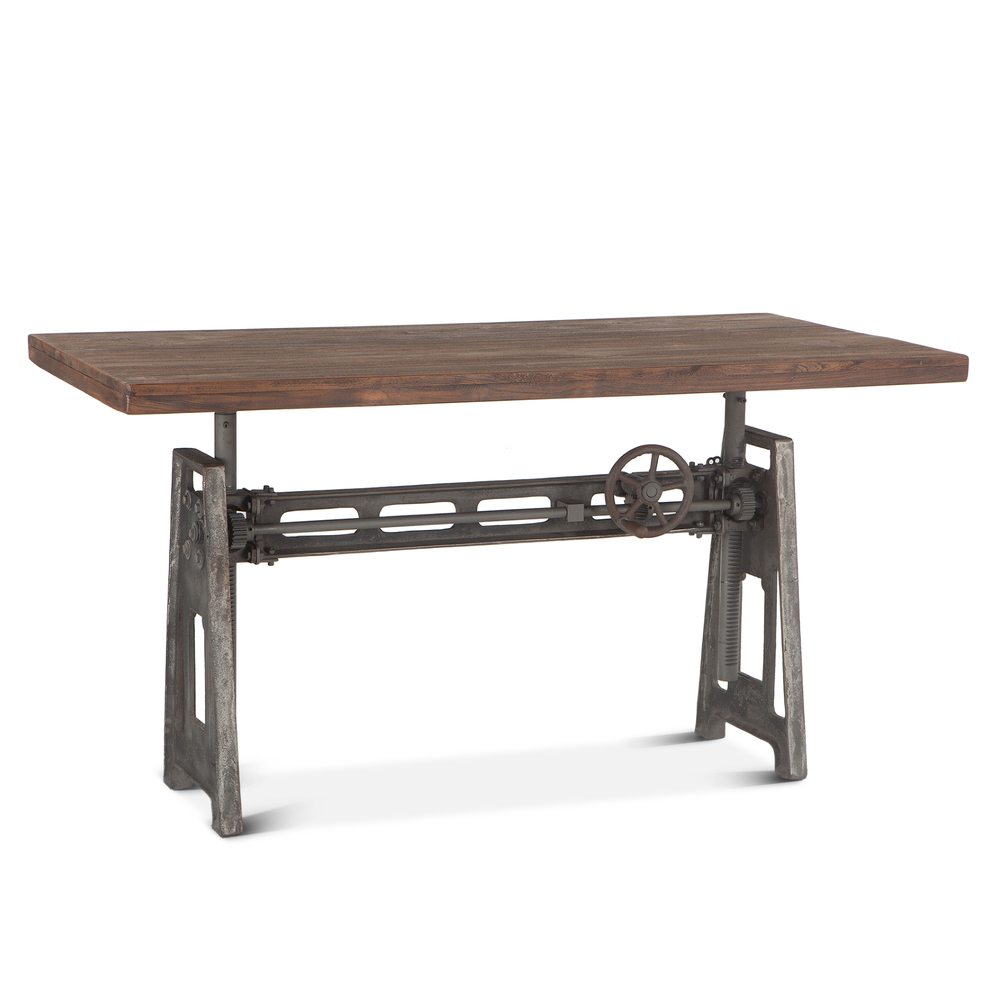 "Home Trends & Design - Industrial Loft Office Desk 60"" Gray"