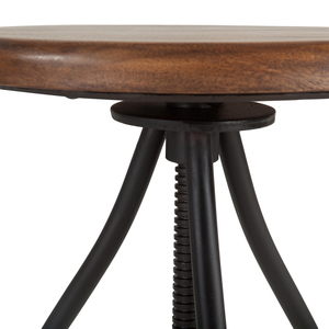 Thumbnail of Home Trends & Design - Industrial Loft Stool with Walnut Top