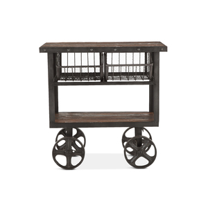 """Thumbnail of Home Trends & Design - Industrial Teak Cart Table 36"""""""