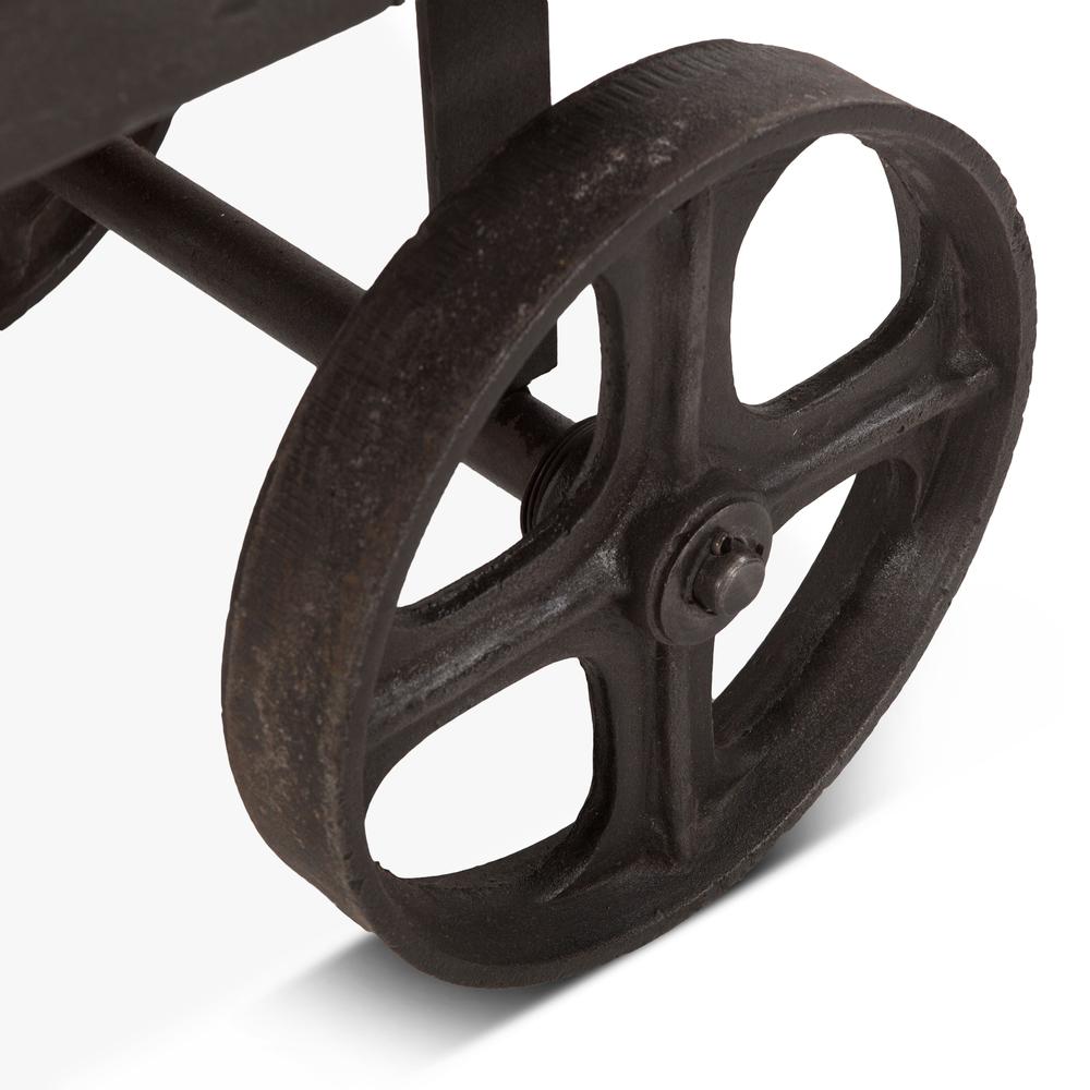 "Home Trends & Design - Industrial Teak Cart Table 48"""
