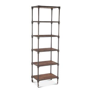 """Thumbnail of Home Trends & Design - Industrial Teak Bookshelf Wheeled 80"""""""