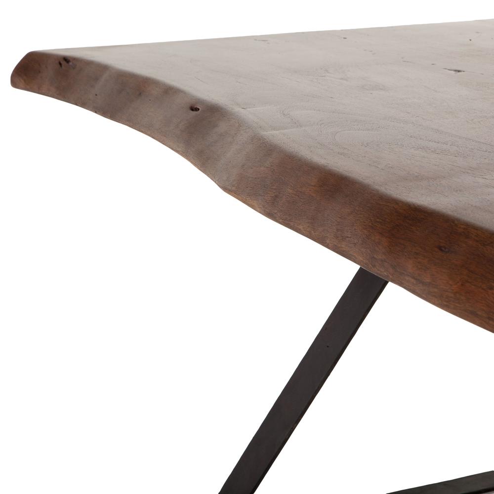 "Home Trends & Design - London Loft Dining Table 106"" Walnut"