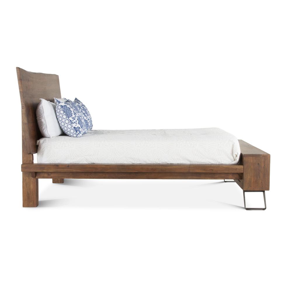 Home Trends & Design - London Loft Bed Queen Walnut