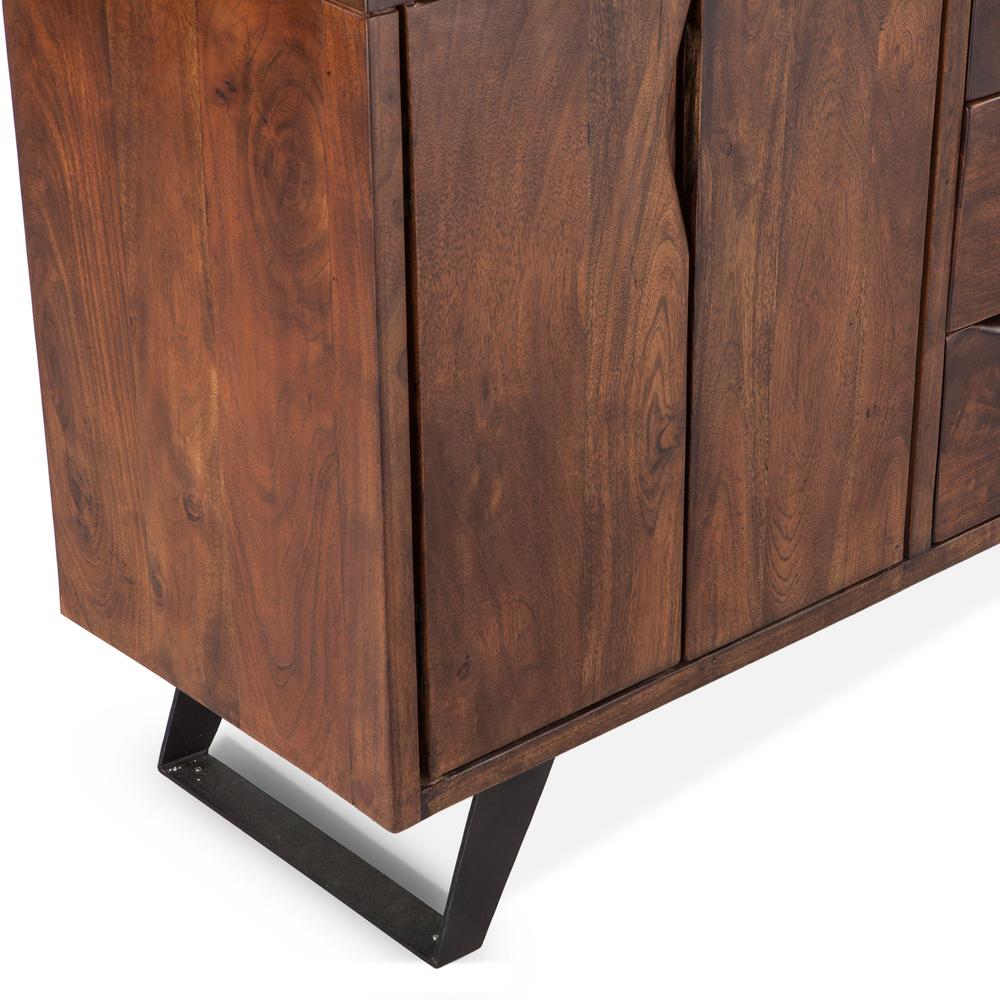 "Home Trends & Design - London Loft Sideboard 68"" Walnut"
