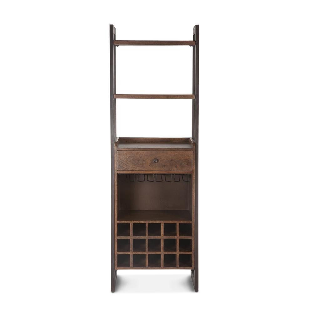 "Home Trends & Design - Mozambique Bar Cabinet 24"" Walnut"