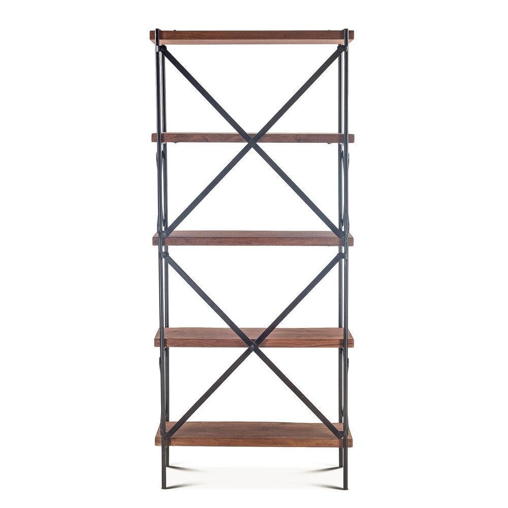 Home Trends & Design - Organic Forge Tall Bookshelf