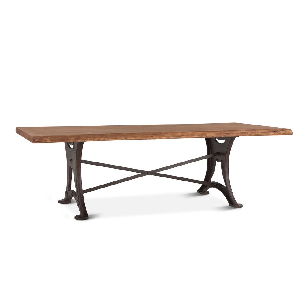 "Home Trends & Design - Organic Forge Dining Table 106"" Raw Walnut"