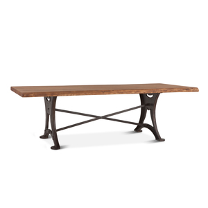 "Thumbnail of Home Trends & Design - Organic Forge Dining Table 106"" Raw Walnut"