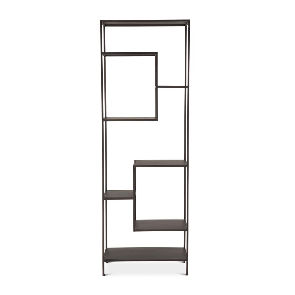 """Home Trends & Design - Parson Bookself 30"""" Antique Zinc"""