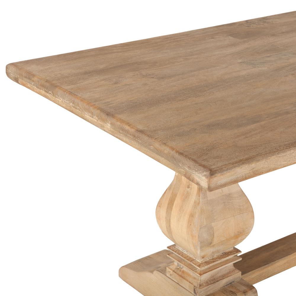 "Home Trends & Design - San Rafael Dining Table 84"" Antique Oak"