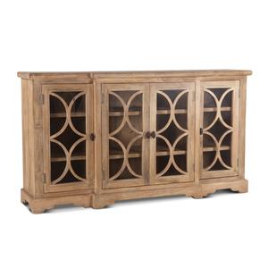 "Thumbnail of Home Trends & Design - San Rafael Glass Cabinet 75"" Antique Oak"