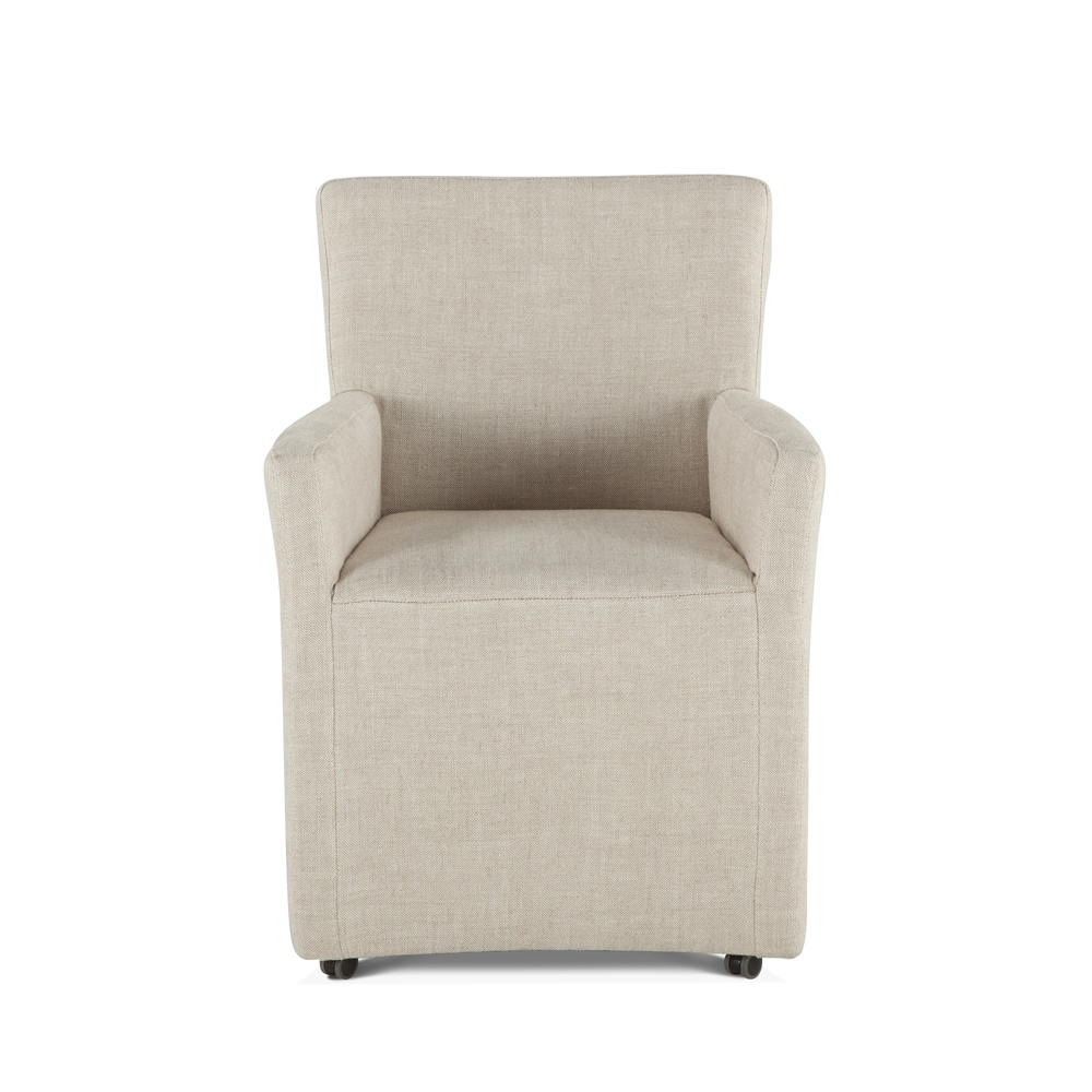 Home Trends & Design - Peabody Linen Dining Arm Chair