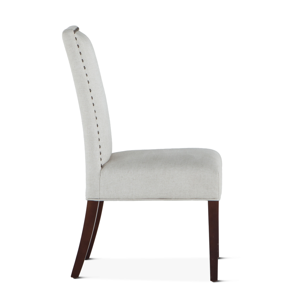 Home Trends & Design - Jones Dining Chair Off-White with Dark Legs