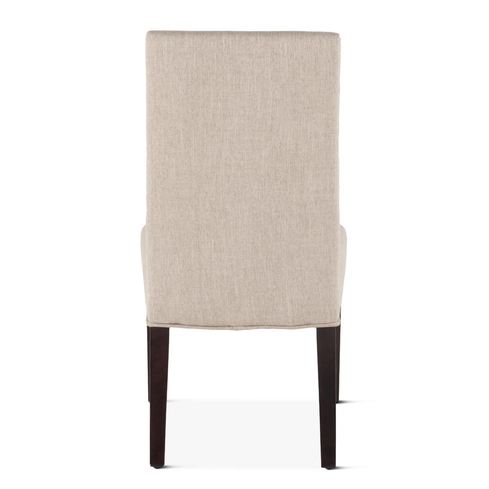Home Trends & Design - Jones Dining Chair Beige with Dark Legs