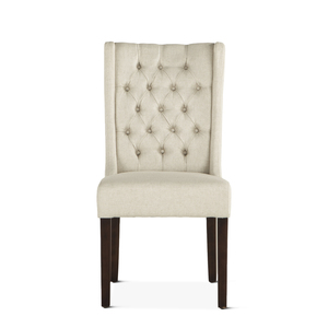 Thumbnail of Home Trends & Design - Lara Dining Chair Off-White with Dark Legs