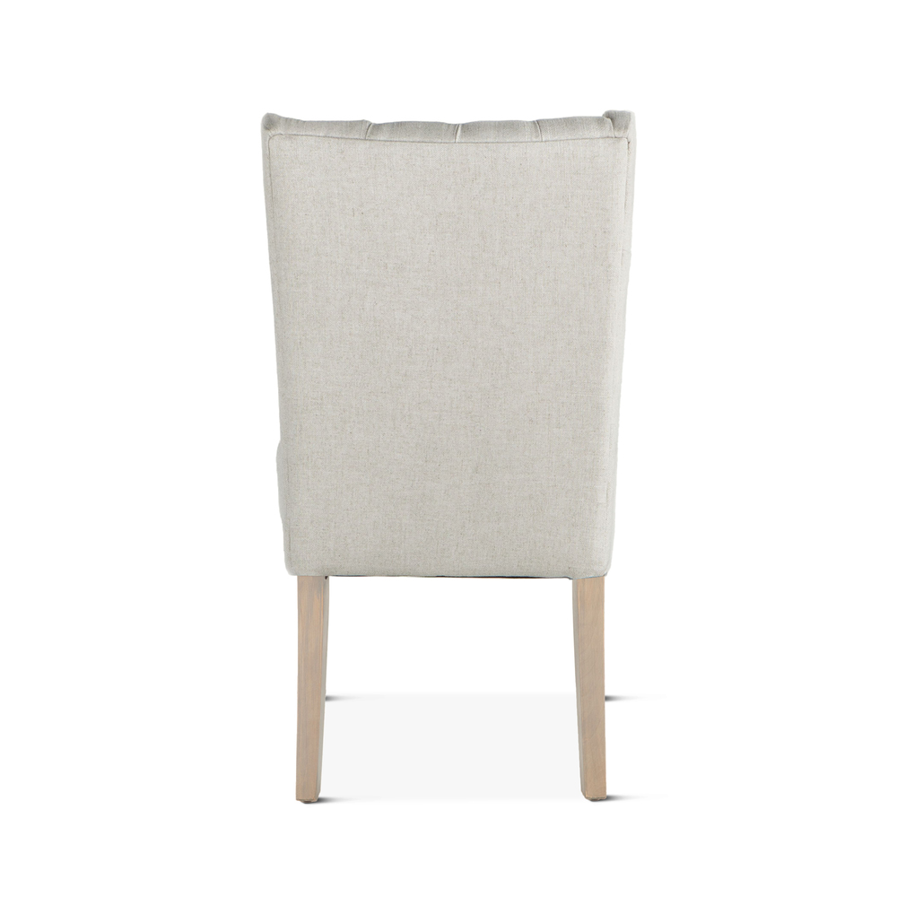 Home Trends & Design - Lara Dining Chair Off-White with Napoleon Legs