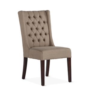Thumbnail of Home Trends & Design - Lara Dining Chair Dark Beige with Dark Legs