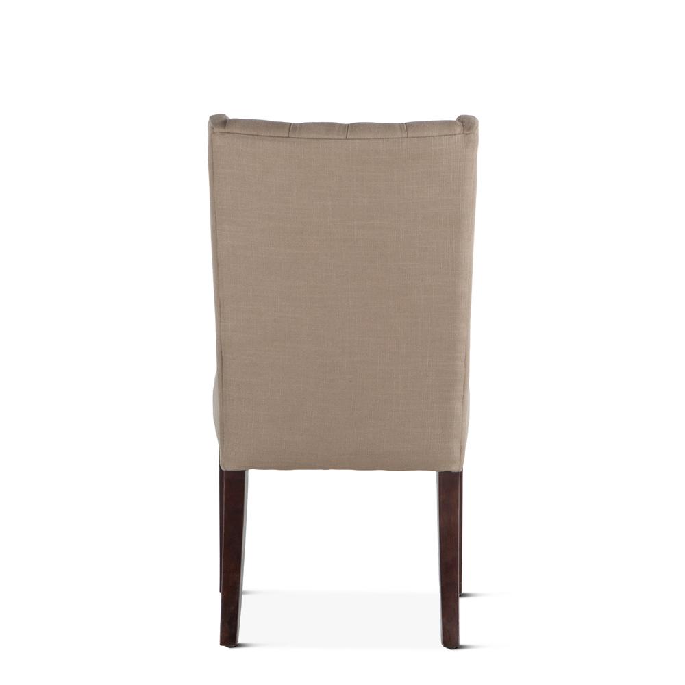 Home Trends & Design - Lara Dining Chair Dark Beige with Dark Legs