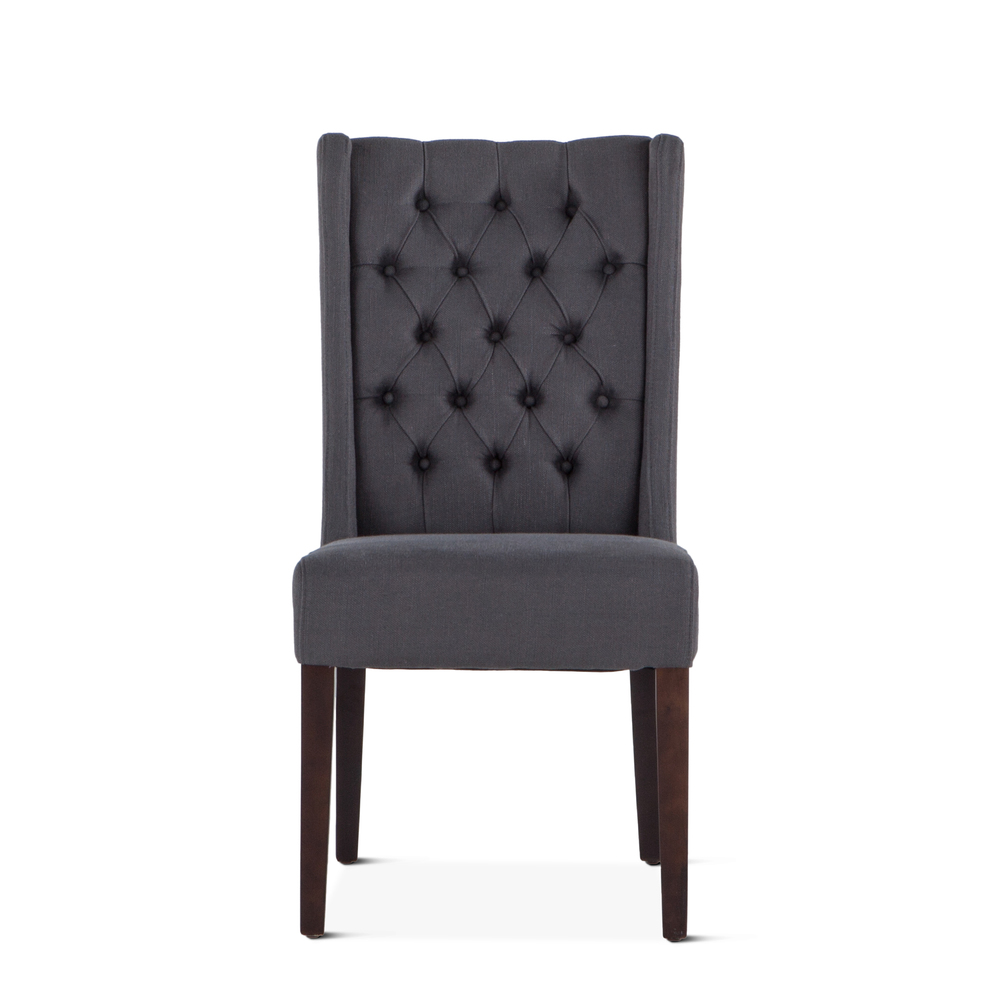 Home Trends & Design - Lara Dining Chair Gray with Dark Legs