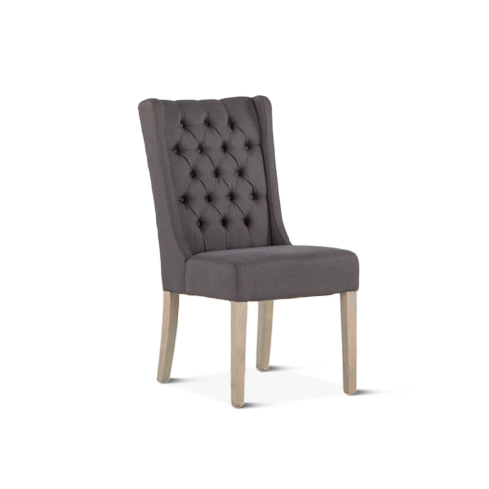Home Trends & Design - Lara Dining Chair Gray with Napoleon Legs