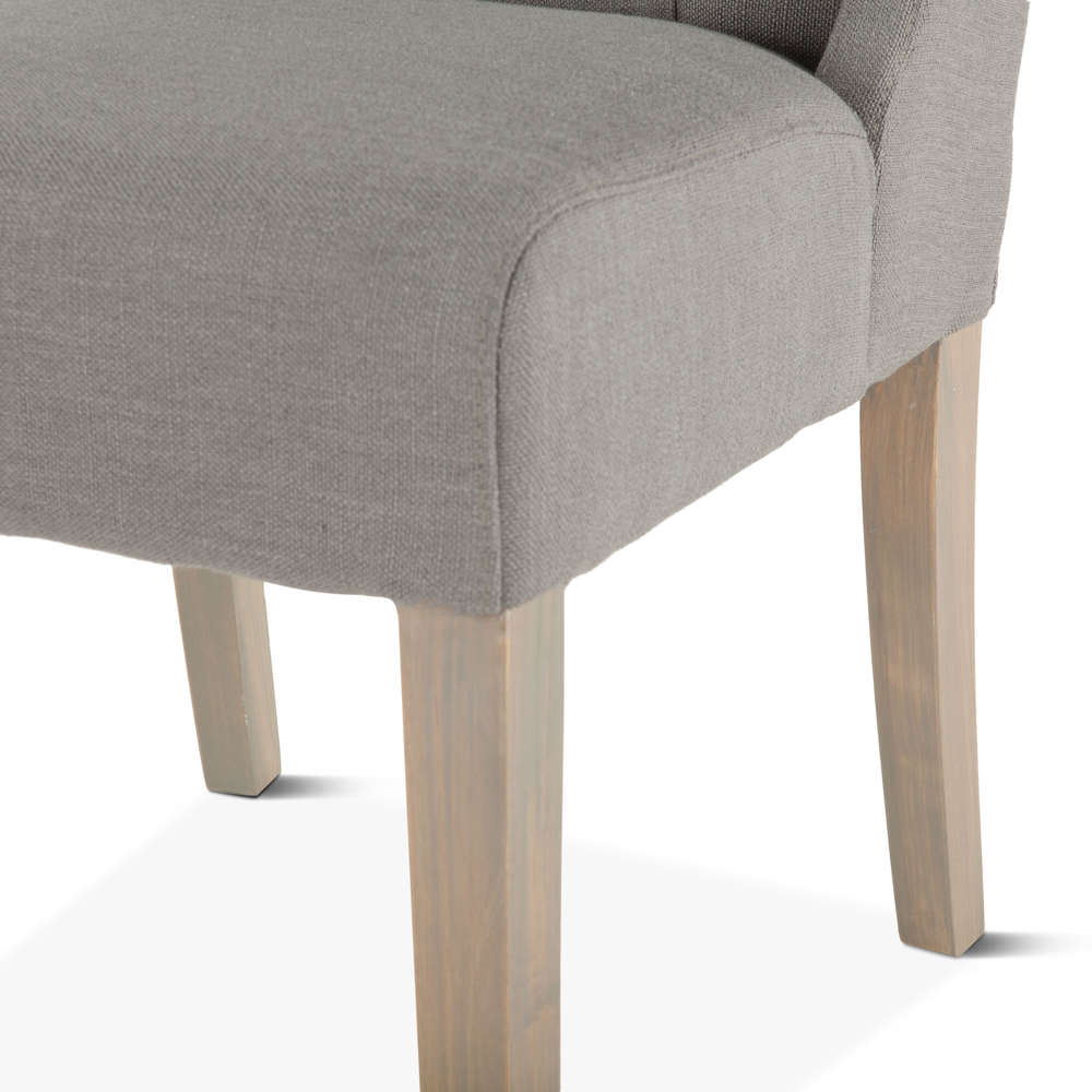 Home Trends & Design - Lara Dining Chair Warm Gray with Napoleon Legs