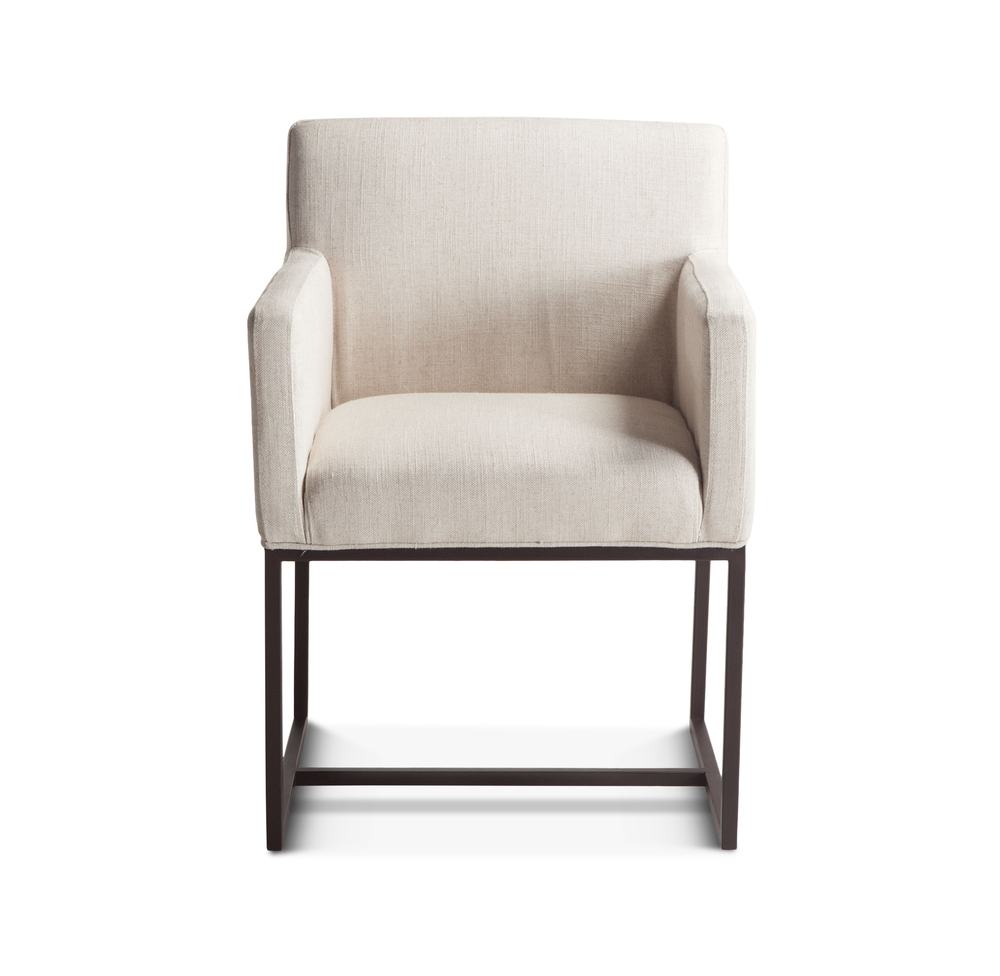 Home Trends & Design - Renegade Off-White Dining Arm Chair