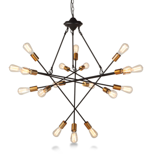 Thumbnail of Home Trends & Design - Luminaire Black and Gold 18-light Chandelier