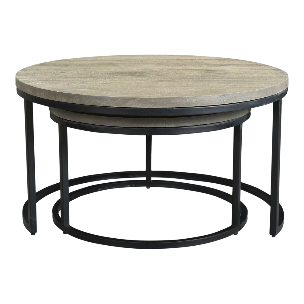 Moe's Home Collection - Drey Round Nesting Coffee Tables, Set/2