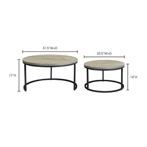 Thumbnail of Moe's Home Collection - Drey Round Nesting Coffee Tables, Set/2