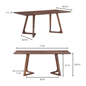 Thumbnail of Moe's Home Collection - Godenza Dining Table