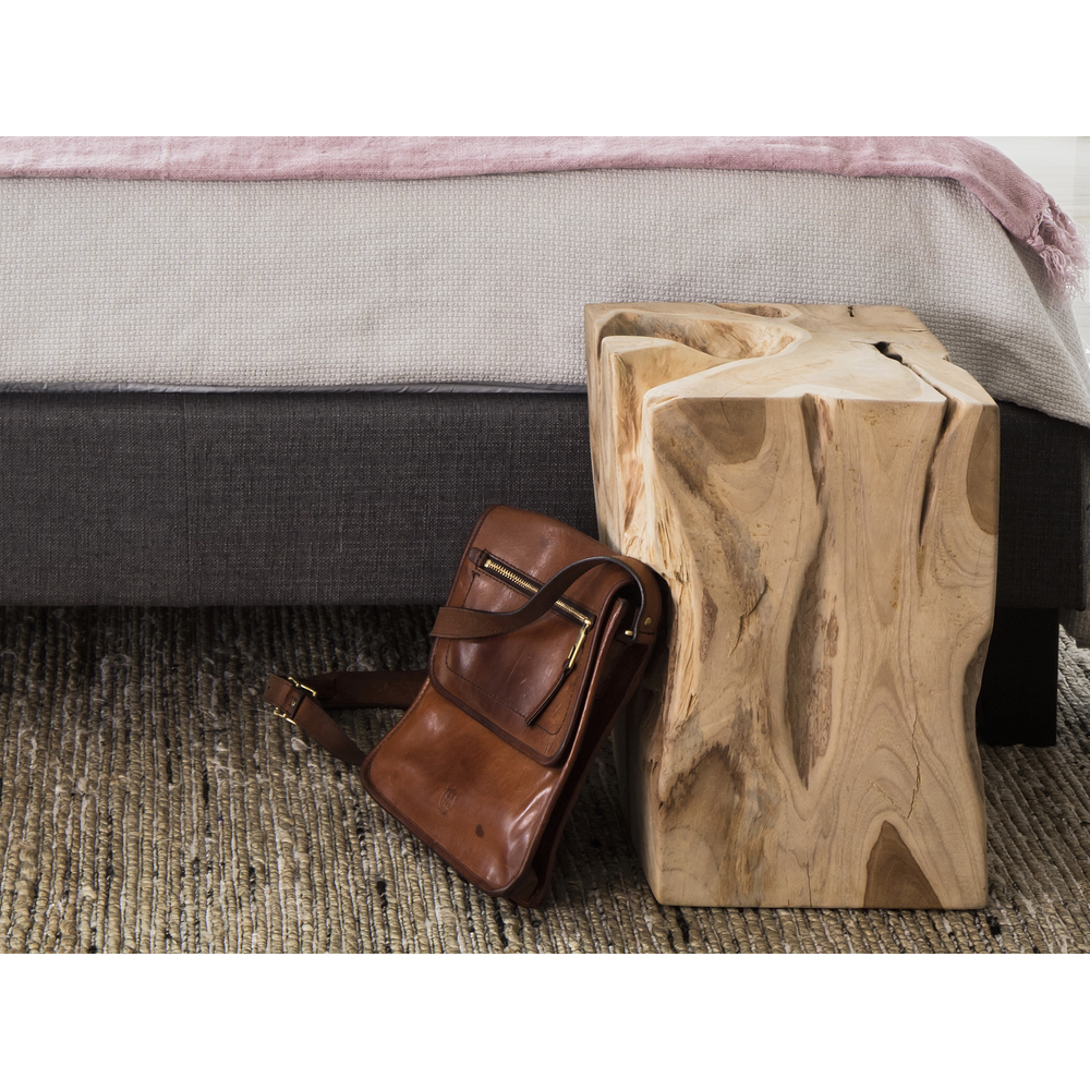 Moe's Home Collection - Natural Teak Wood End Table
