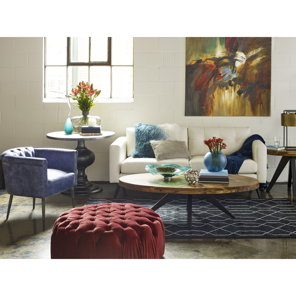 Moe's Home Collection - Shapkin Leather Arm Chair