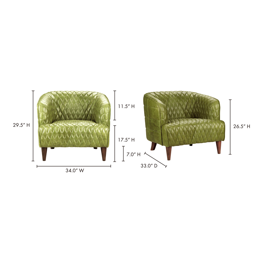 Moe's Home Collection - Magdelan Tufted Leather Arm Chair