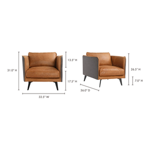 Thumbnail of Moe's Home Collection - Messina Leather Arm Chair