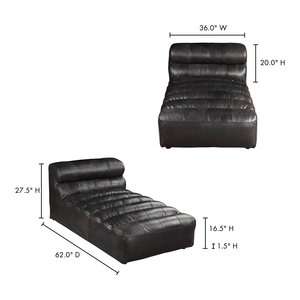 Thumbnail of Moe's Home Collection - Ramsay Leather Chaise