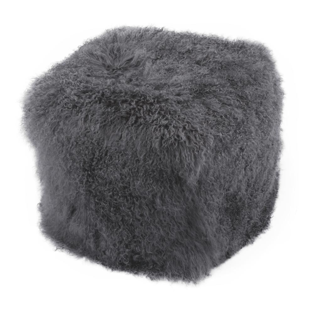 Moe's Home Collection - Lamb Fur Pouf