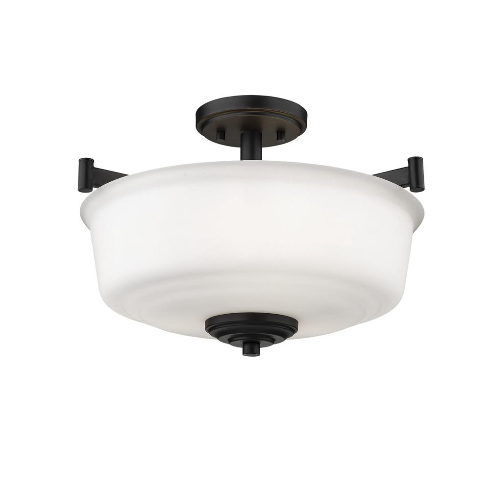 Millennium Lighting - Three Bulb Semi-Flush Ceiling Light