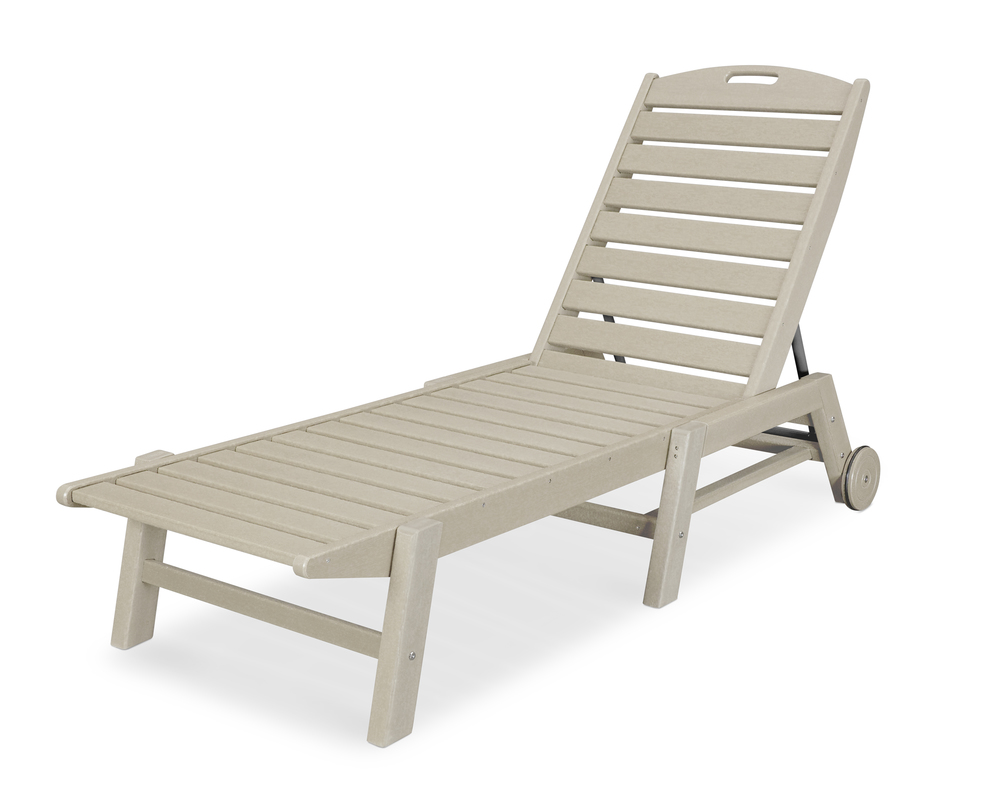 Polywood - Nautical Chaise with Wheels