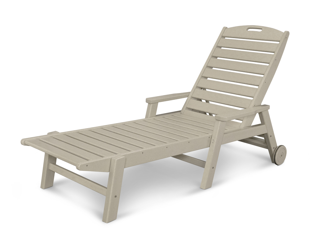 Polywood - Nautical Chaise with Arms & Wheels